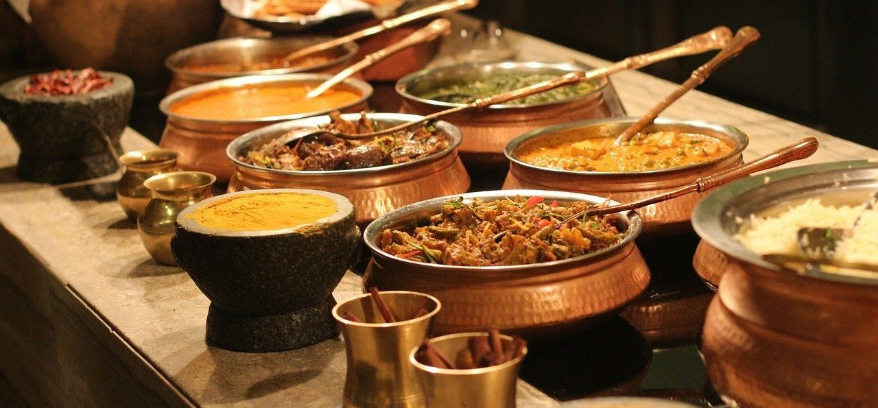 buffet, indian, food