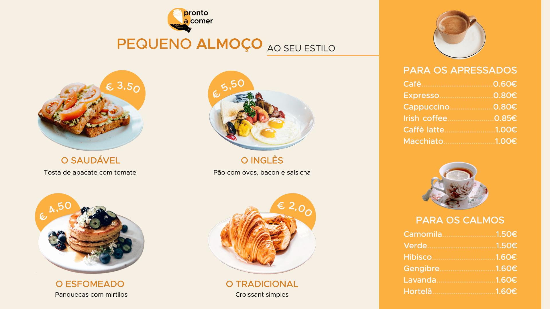 menu cafetaria digital signage